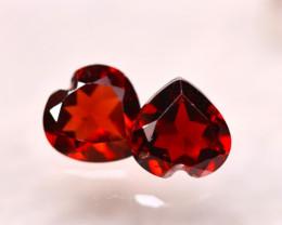 Rhodolite 2.09Ct 2Pcs Natural Cherry Red Rhodolite Garnet E2117/B27