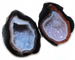 12.36 CTS GEODE PAIR ZACATECAS MEXICO-POLISHED  [MGW5526]