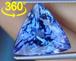 8.87cts Blue Tanzanite,  Loupe Clean, Top Cut, D Block,