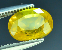 Top Clarity & Color 2.05 ct Rarest Yellow Sapphire~Sri Lanka