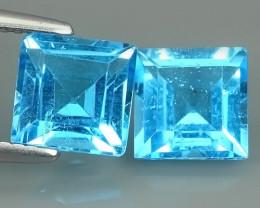 4.05 CTS NATURAL SWISS BLUE TOPAZ SQARE WONDERFUL!!