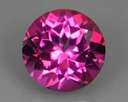 3.35 CTS  BEAUTYFUL ROUND 9.05MM NATURAL PINK TOPAZ COLOR COTED NR!!