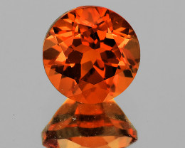 5.00 mm Round 0.50ct Red-Orange Andesine [VVS]