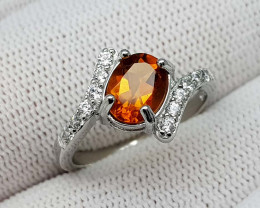 15.89CT MADEIRA CITRINE 925 SILVER RING  BEST QUALITY GEMSTONE IIGC02