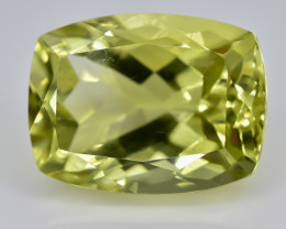 12.13 Crt Natural Lemon Quartz Faceted Gemstone.( AB 37)