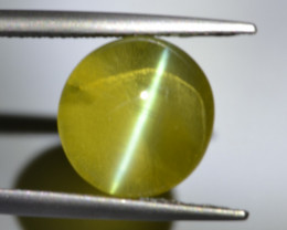 Natural Chrysoberyl Cat's Eye 6.76 Cts Top Grade Honey Color