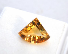 5.26 Carat Fancy Wedge Cut Fine Citrine