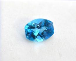 3.14 Carat Fine Fancy Checkerboard Cut Swiss Blue Topaz