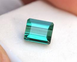 3.83 Carat Fantastic Scissor Cut Blue-Green Tourmaline