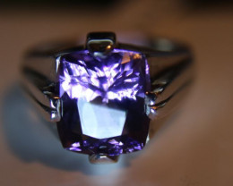 Amethyst 4.53ct Solid 925 Sterling Silver Ring    Size 7