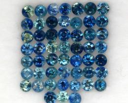 4.03 ct. 2.5 MM. NATURAL GEMSTONE MULTI COLOR SAPPHIRE DIAMOND CUT 52PCS.
