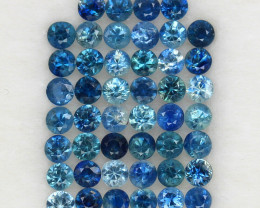 4.04 ct. 2.6 MM. DIAMOND CUT MULTI COLOR SAPPHIRE NATURAL GEMSTONE 46PCS.