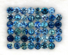 4.08 ct. 2.6 MM. DIAMOND CUT MULTI COLOR SAPPHIRE NATURAL GEMSTONE 46PCS.