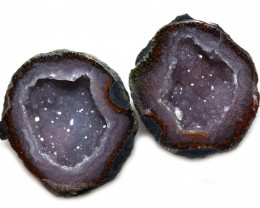 23.68 CTS GEODE PAIR ZACATECAS MEXICO-POLISHED  [MGW5531]