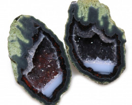 15.09 CTS GEODE PAIR ZACATECAS MEXICO-POLISHED  [MGW5532]