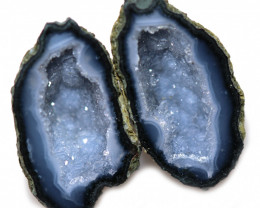20.62 CTS GEODE PAIR ZACATECAS MEXICO-POLISHED  [MGW5533]