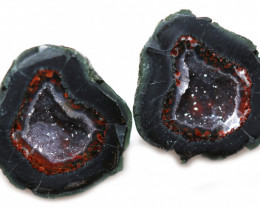 28.17 CTS GEODE PAIR ZACATECAS MEXICO-POLISHED  [MGW5534]