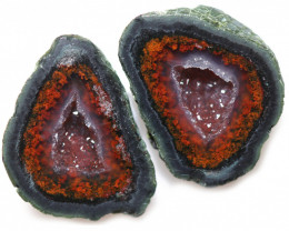 14.90 CTS GEODE PAIR ZACATECAS MEXICO-POLISHED  [MGW5536]