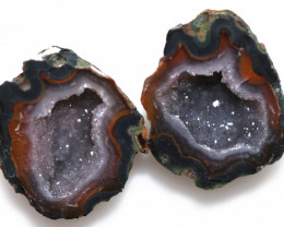 25.31 CTS GEODE PAIR ZACATECAS MEXICO-POLISHED  [MGW5539]