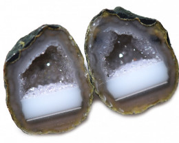 14.33 CTS GEODE PAIR ZACATECAS MEXICO-POLISHED  [MGW5543]