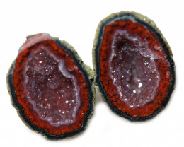 17.64 CTS GEODE PAIR ZACATECAS MEXICO-POLISHED  [MGW5544]