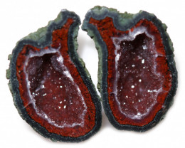 22.55 CTS GEODE PAIR ZACATECAS MEXICO-POLISHED  [MGW5545]