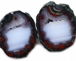 26.71 CTS GEODE PAIR ZACATECAS MEXICO-POLISHED  [MGW5547]
