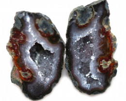 28.75 CTS GEODE PAIR ZACATECAS MEXICO-POLISHED  [MGW5551]