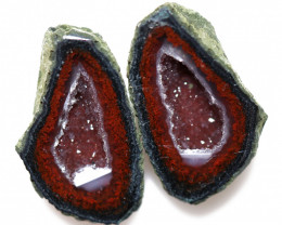 22.38 CTS GEODE PAIR ZACATECAS MEXICO-POLISHED  [MGW5553]