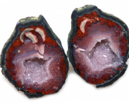 35.31 CTS GEODE PAIR ZACATECAS MEXICO-POLISHED  [MGW5557]