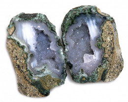 52.06 CTS GEODE PAIR ZACATECAS MEXICO-POLISHED  [MGW5559]
