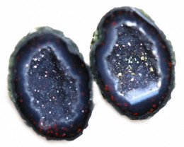 14.95 CTS GEODE PAIR ZACATECAS MEXICO-POLISHED  [MGW5560]