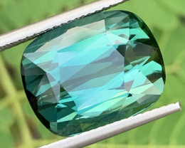 BLUE GREEN 12.74 Carats Natural Color Tourmaline Gemstone From Afghanistan