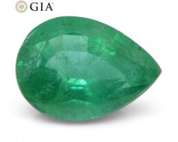2.24 ct Pear Emerald GIA Certified Zambian