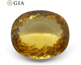 17.72 ct Cushion Golden Beryl GIA Certified Heliodor