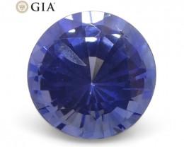 1.23 ct Round Sapphire GIA Certified Sri Lankan