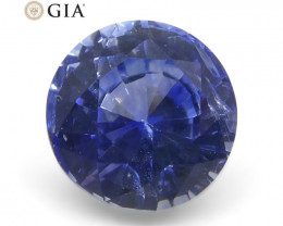 0.99 ct Round Sapphire GIA Certified Madagascar