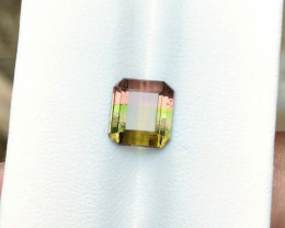 2.85 Ct Natural Tri Color Transparent Tourmaline Ring Size Gemstone