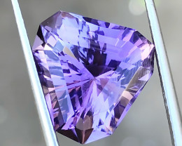 7 Ct Natural Purple Transparent Trillion Cut Flawless Amethyst Gemstone