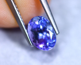 1.44cts Natural Violet Blue D Block Tanzanite / RD871