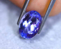 2.14cts Natural Violet Blue D Block Tanzanite / RD888