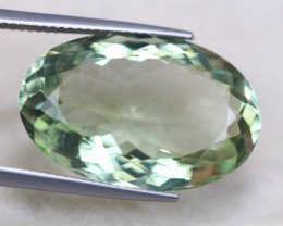 21.41ct Natural Green Amethyst Oval Cut Lot V6419
