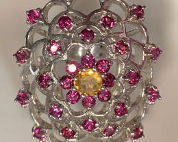 An incredibly pretty fine Rhodolite Garnet Ring Size 8