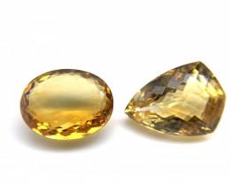10.58 ct 10.97 ct Natural Citrine Yellow Loose Gemstone