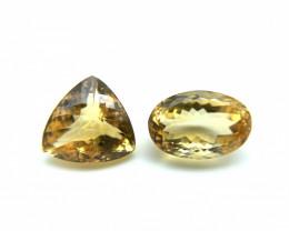 9.27 ct 9.85 ct Natural Citrine Yellow Loose Gemstone