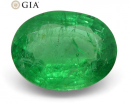 1.83 ct Oval Emerald GIA Certified Russian