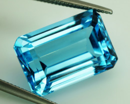 28.29 ct.  Natural Top Quality Sky Blue Topaz Brazil  - IGE Сertified