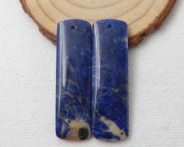 53cts Blue Sodalite Earrings Square earrings beads, stone for earrings maki