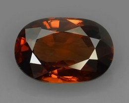4.00 CTS BRILLIANT CUT OVAL RARE ZIRCON CAMBODIA PERFECTGEMS!!