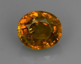 2.45 CTS TOP DAZZLING NATURAL ULTRA OVAL MALI GARNET!!